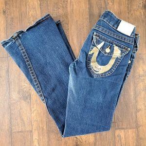 Joey Flare Gold Foil Pocket Jeans